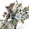 生物の解剖図と植物を組み合わせた奇妙な絵画