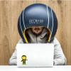 電話や会議も可能 職場のノイズを遮断するヘルメット型デバイス「HELMFON」