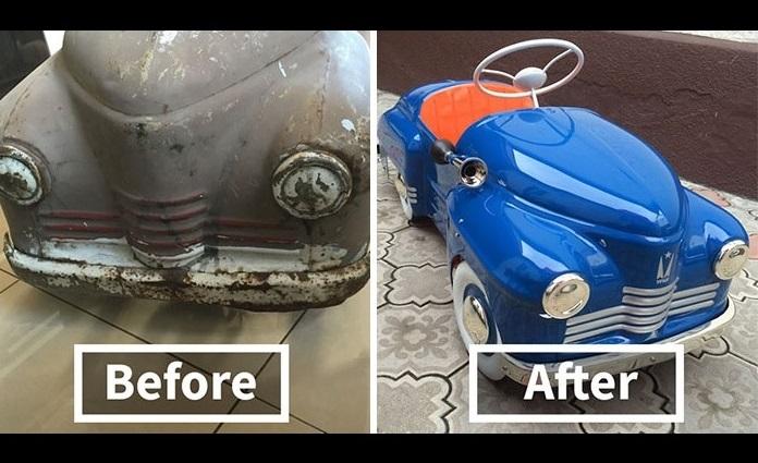 ペダルカー修復1