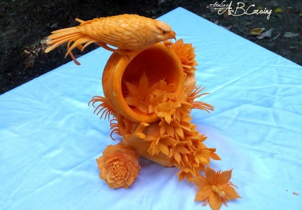 かぼちゃ彫刻1