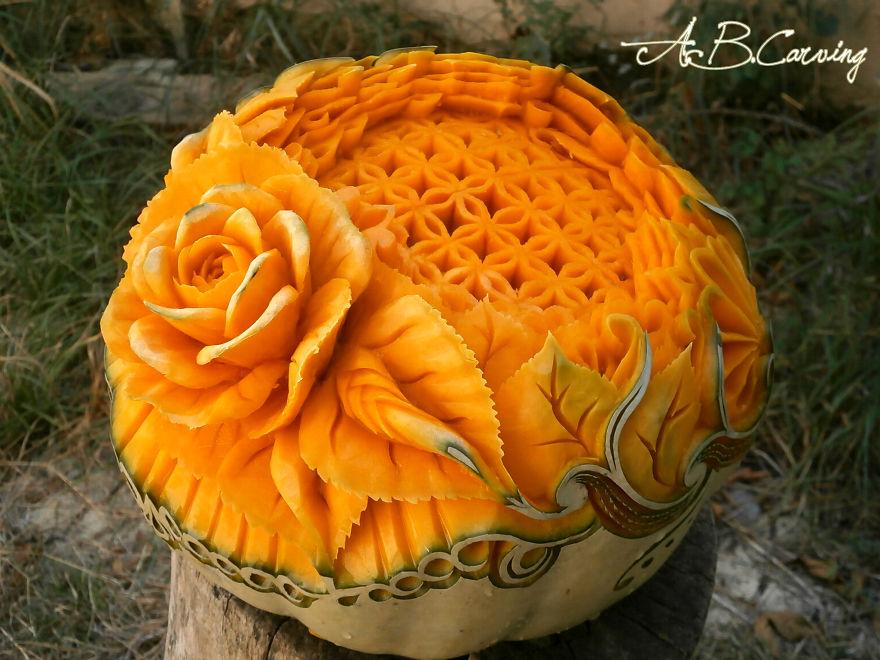 かぼちゃ彫刻3