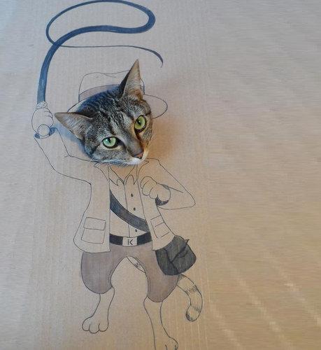 猫 顔ハメ看板7