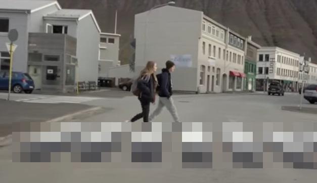 アイスランド 横断歩道1