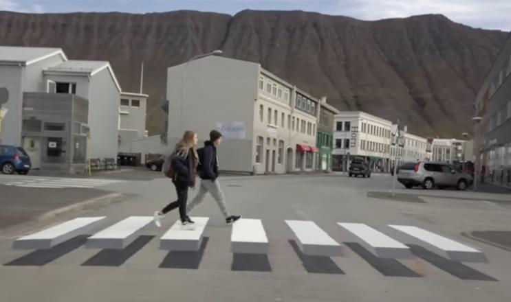 アイスランド 横断歩道2