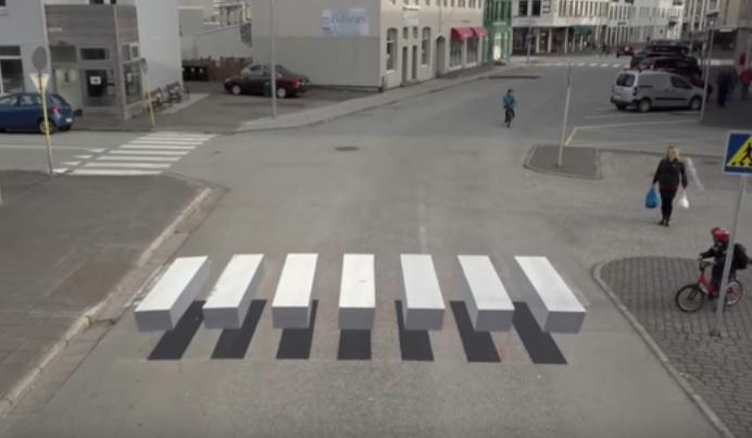 アイスランド 横断歩道3