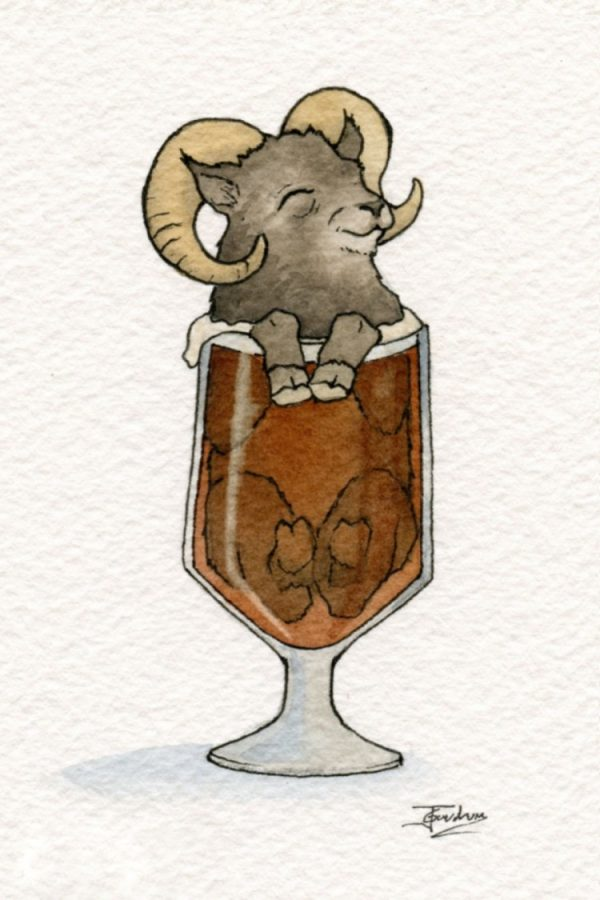 動物お酒イラスト12
