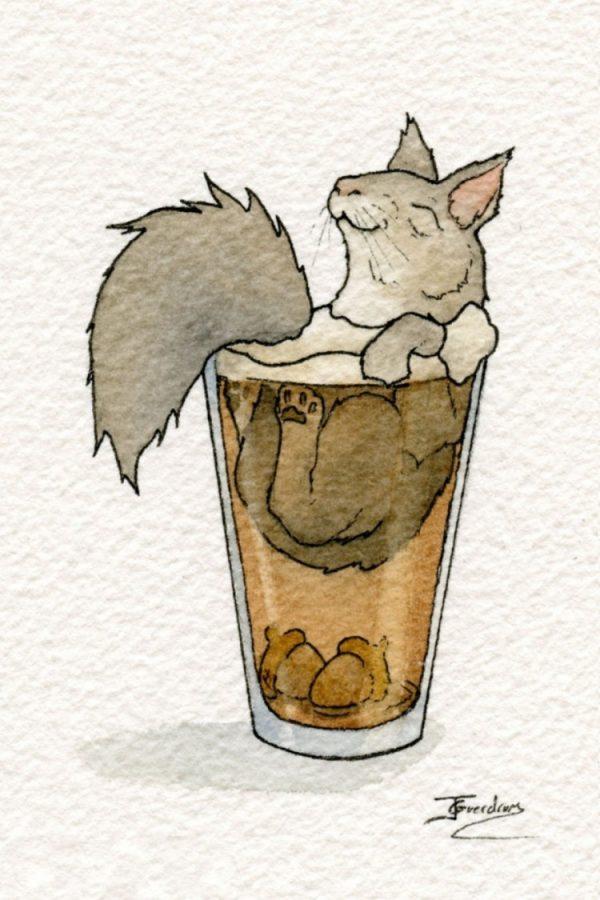 動物お酒イラスト2