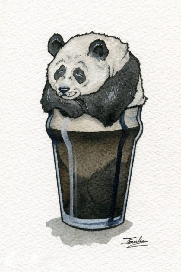 動物お酒イラスト6