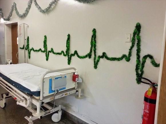 病院 クリスマスデコレーション2