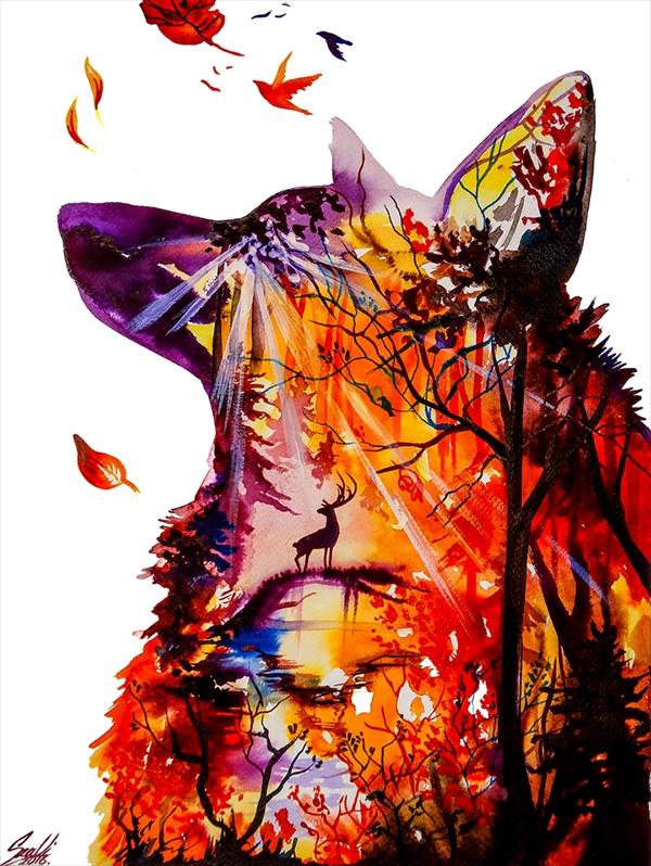 美しい水彩画Vivien 15