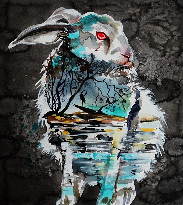 美しい水彩画Vivien 7