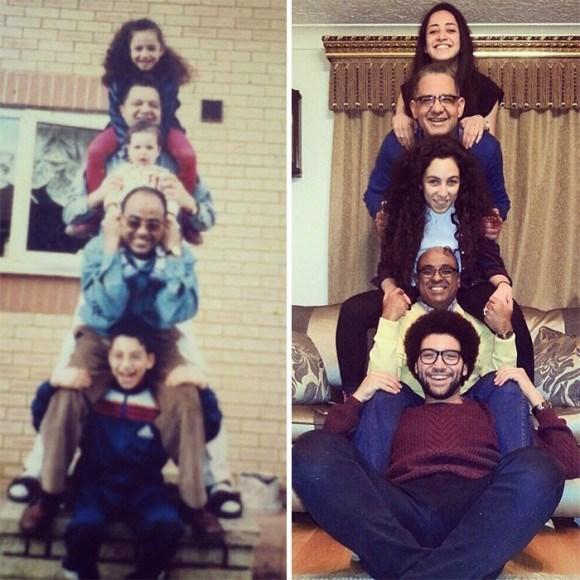 過去と現在 家族写真21