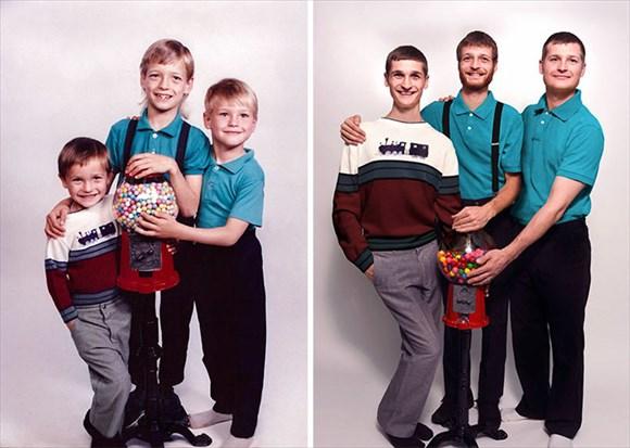 過去と現在 家族写真10