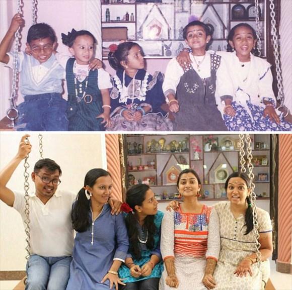 過去と現在 家族写真18