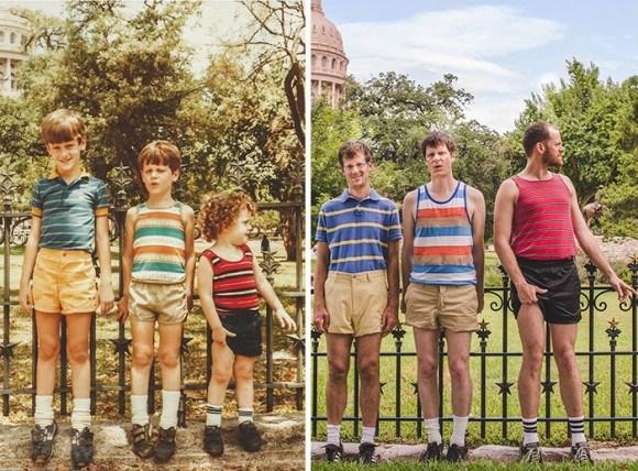 過去と現在 家族写真2