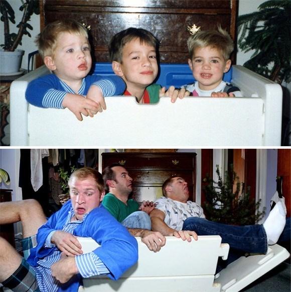 過去と現在 家族写真13