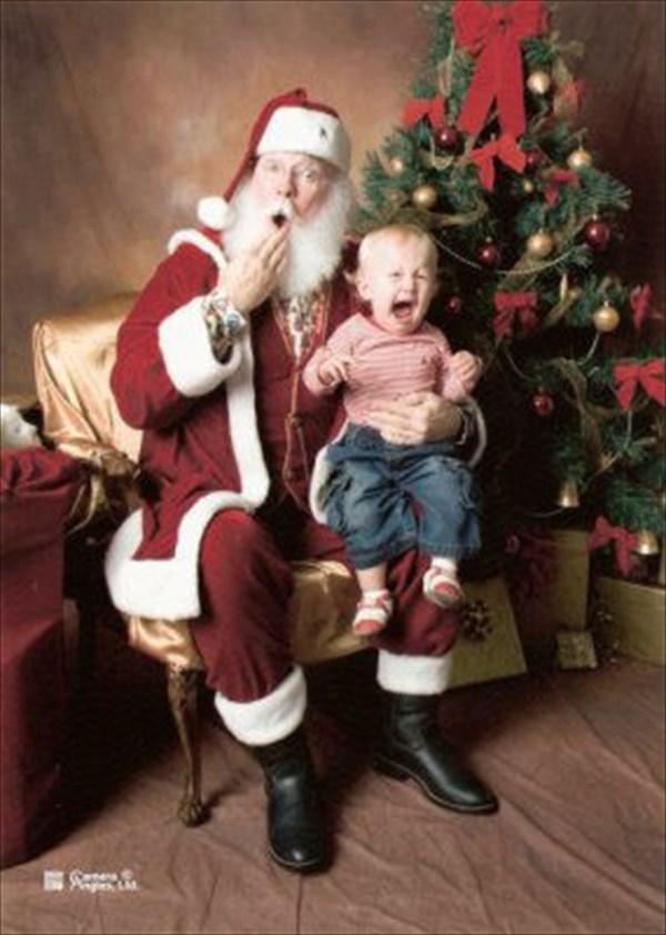 サンタに怖がる子ども6