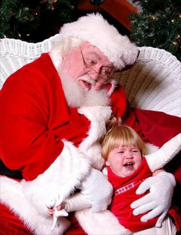 サンタに怖がる子ども7