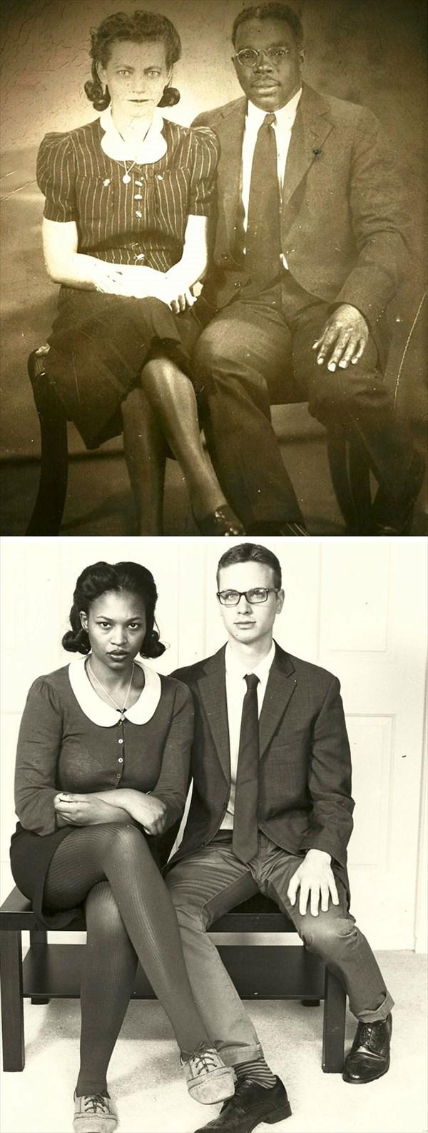 祖父母の写真を再現12