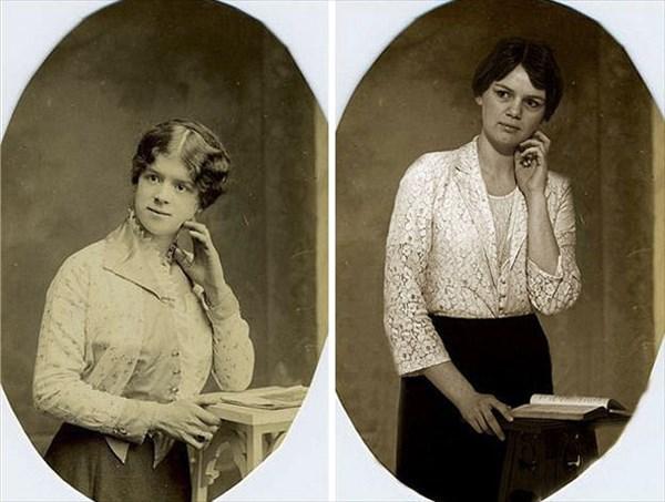 祖父母の写真を再現4