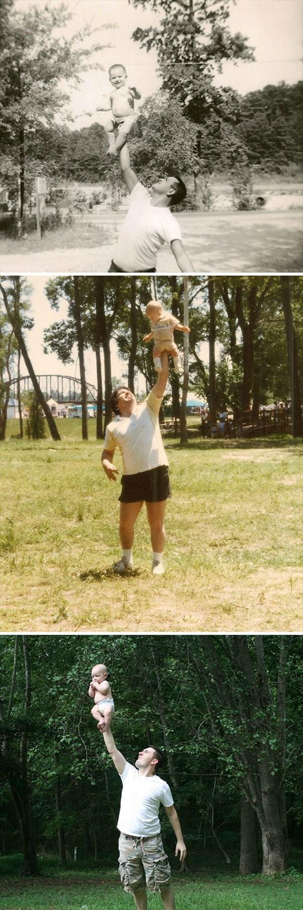 祖父母の写真を再現16