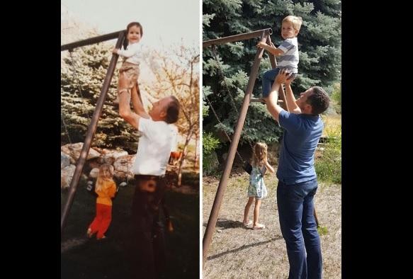 祖父母の写真を再現1