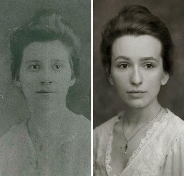 祖父母の写真を再現7