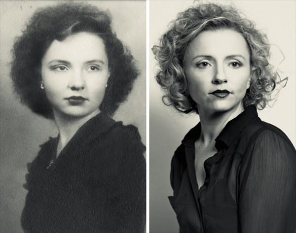 祖父母の写真を再現6