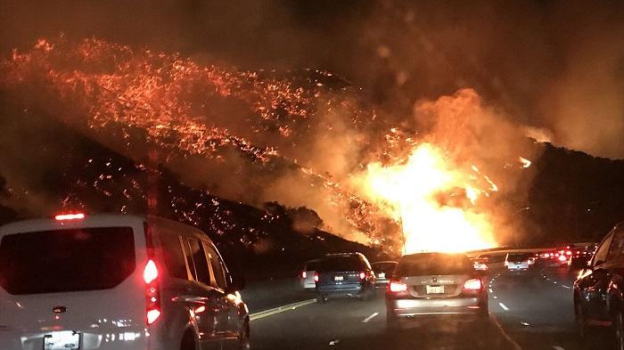 山火事の画像