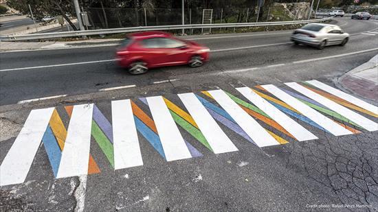 カラフルな横断歩道8