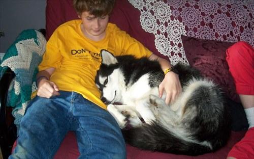子供とペット 友達写真15