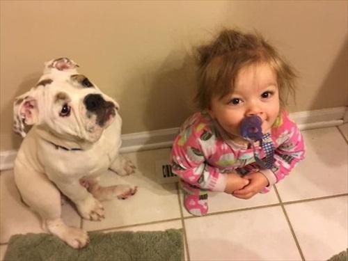 子供とペット 友達写真3