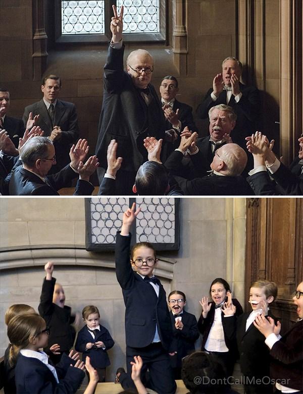 ウィンストン・チャーチル/ヒトラーから世界を救った男 再現写真