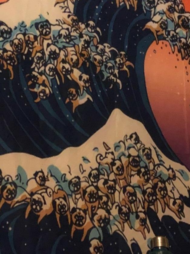 ネット通販 浮世絵のタペストリー4