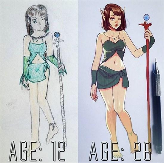 昔と今のイラスト 比較してみた3