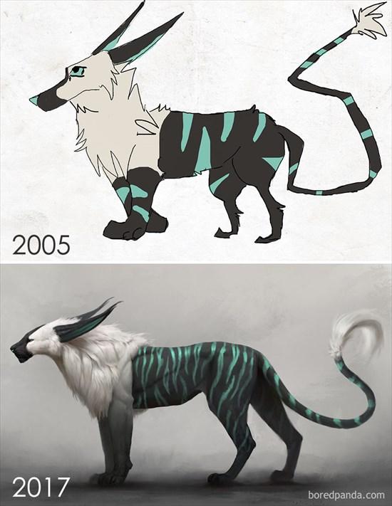 昔と今のイラスト 比較してみた16