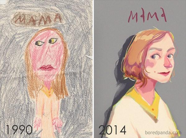 昔と今のイラスト 比較してみた2