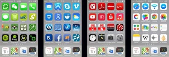 スッキリするような画像5 アプリアイコン色別