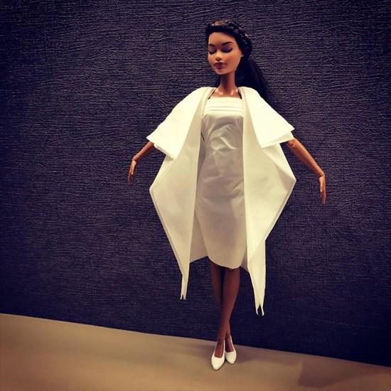 バービー人形のドレスを作った11