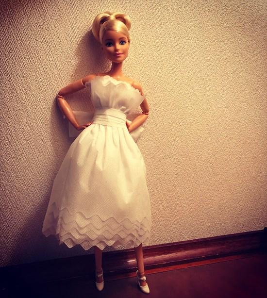 バービー人形のドレスを作った13