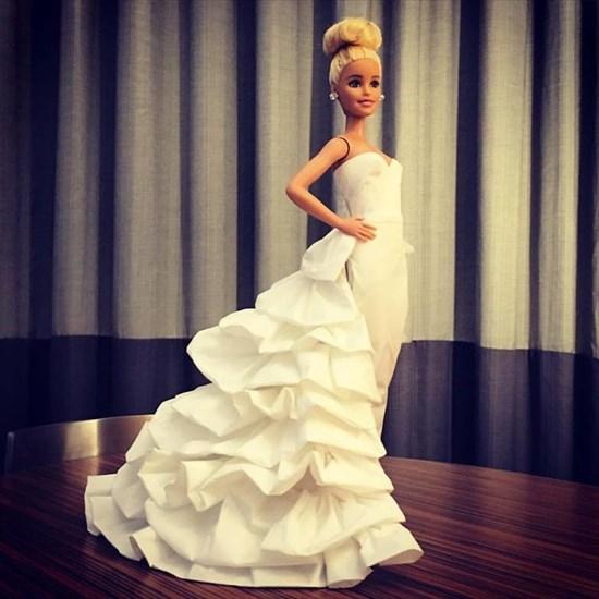 バービー人形のドレスを作った2