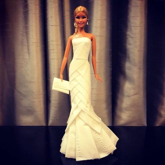 バービー人形のドレスを作った4