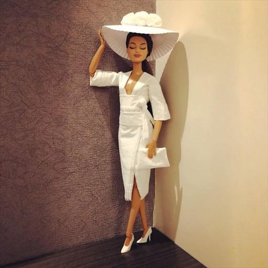 バービー人形のドレスを作った5