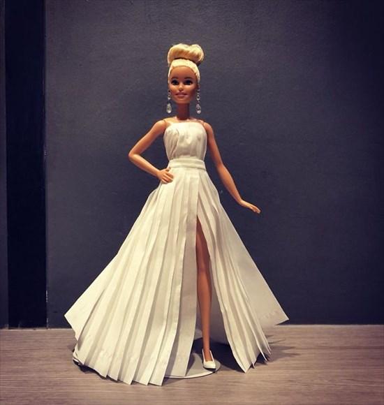 バービー人形のドレスを作った6