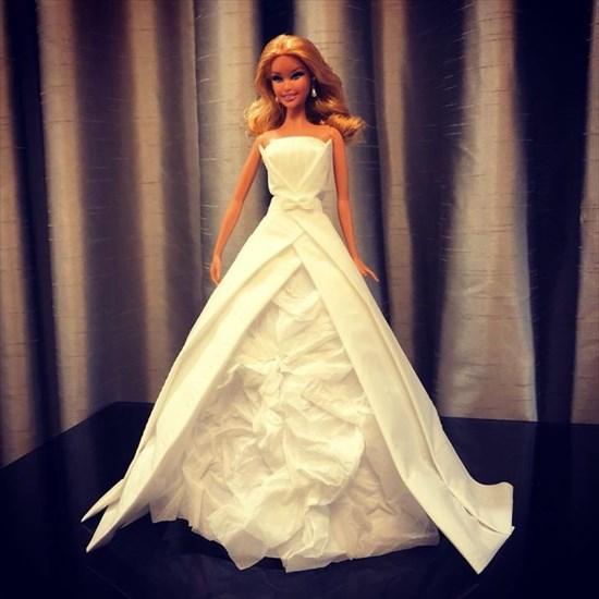 バービー人形のドレスを作った8