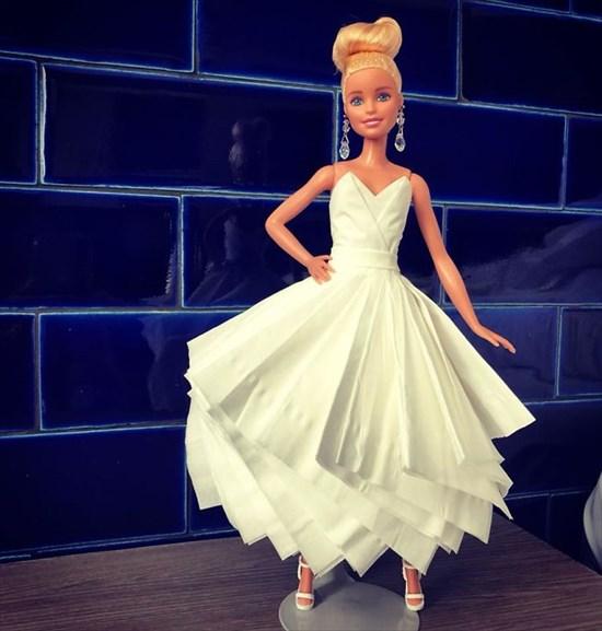 バービー人形のドレスを作った9