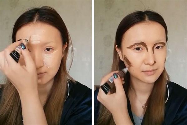 化粧でモナリザに変身 2