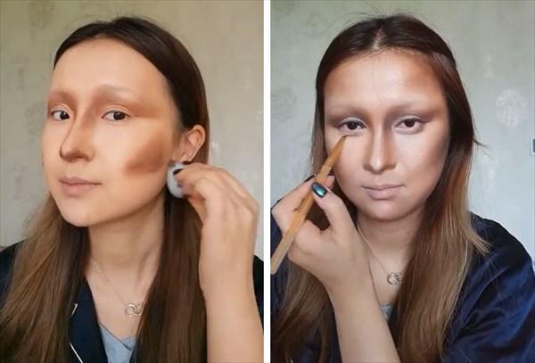 化粧でモナリザに変身 3