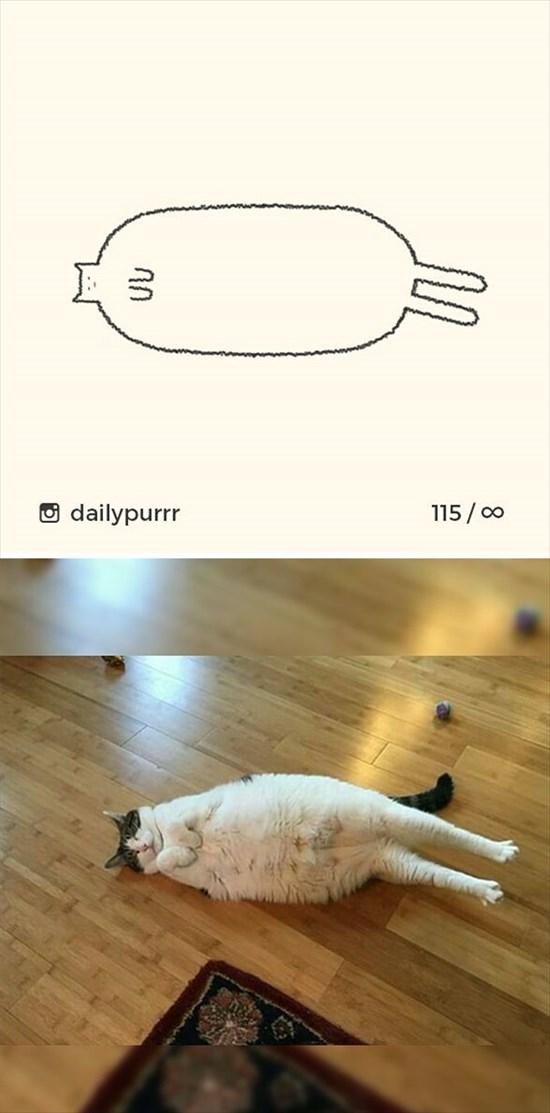 シンプルな猫のイラスト 6