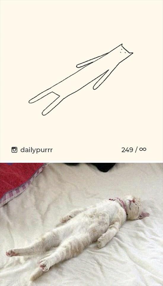 シンプルな猫のイラスト 8